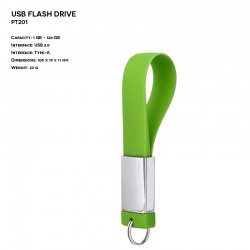 Silicon - Metal ER KEYCHAIN PT201 Pendrive